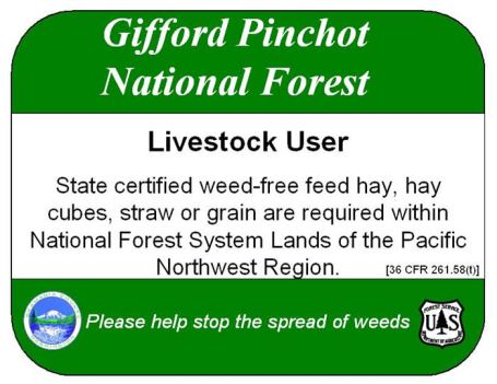 Gifford-Pinchot-weed-free-forage-sign