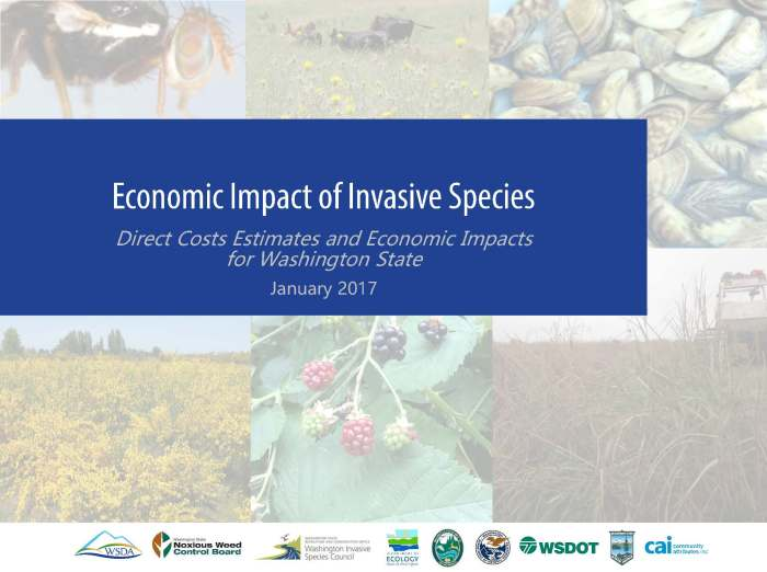Report on invasive species in Washington commissioned by Washington State Department of Agriculture and other state agencies.