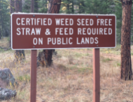 Certified weed seed free straw and feed sign