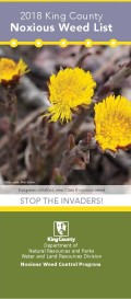 cover image of the 2018 King County Noxious Weed List