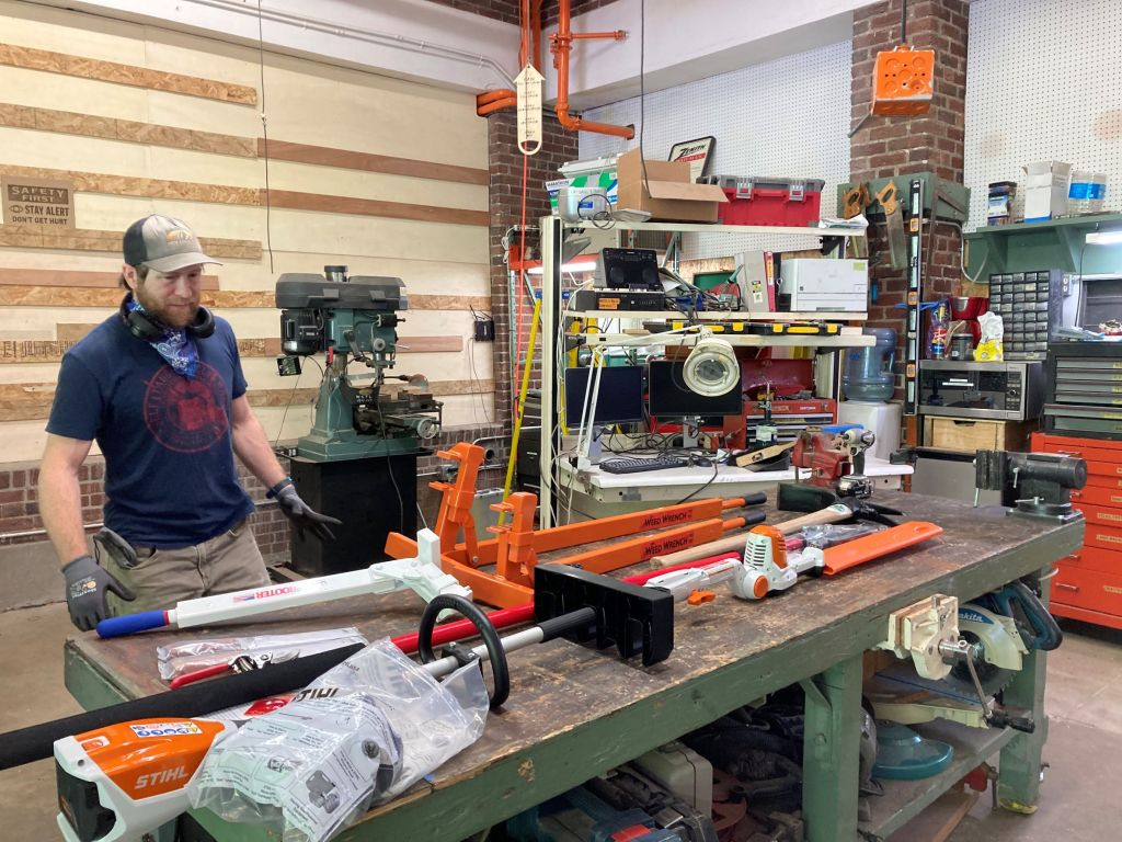 West Seattle Tool Library with their new weed control tools ready for inventory